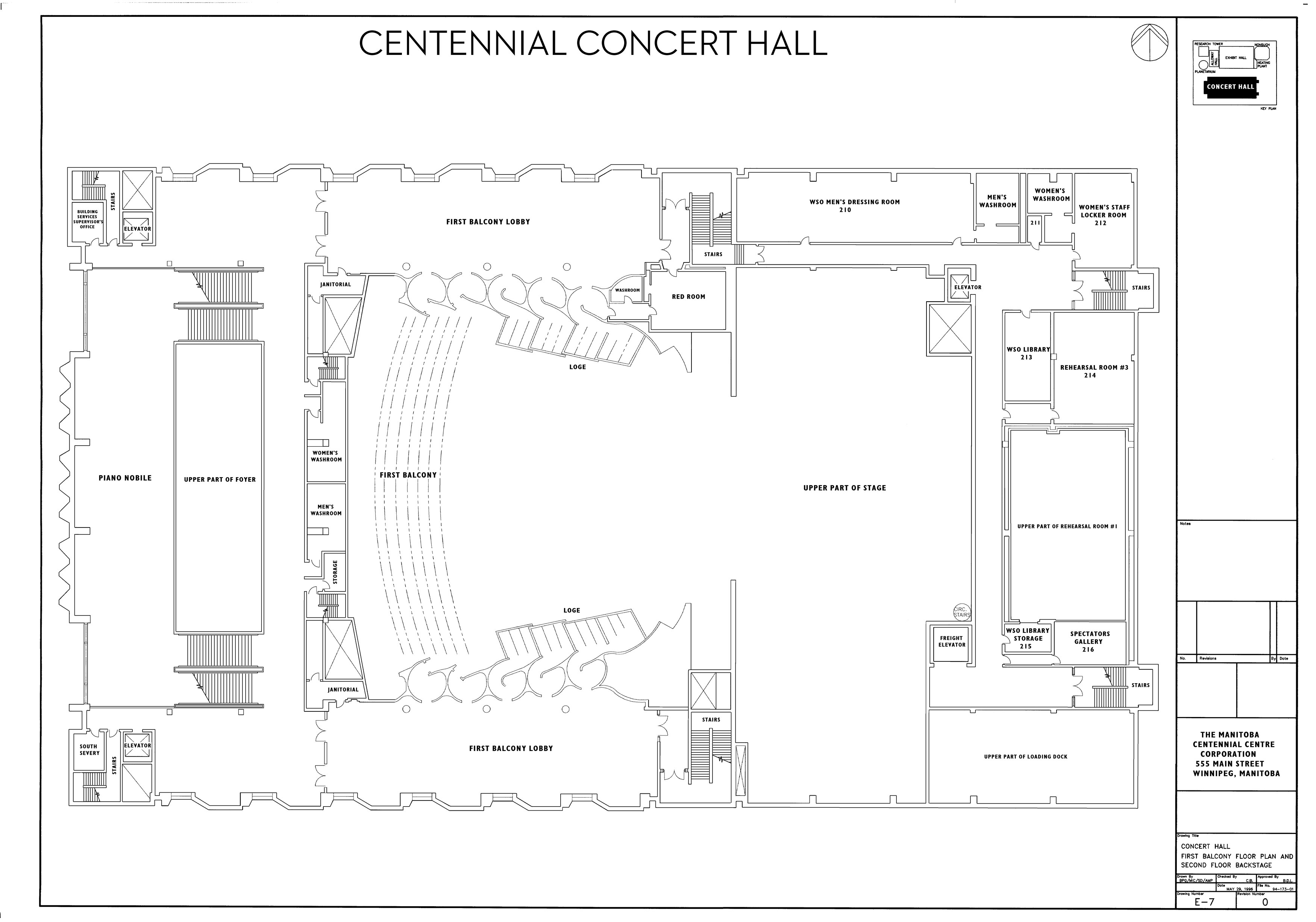 Technical Information - Centennial Concert Hall